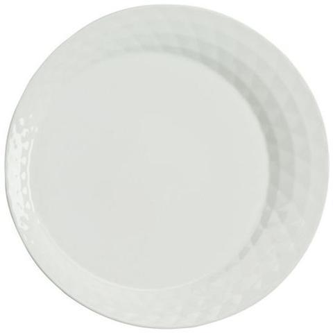 TOGNANA Piatto Piano Colore Bianco Diametro 27 cm - Linea Diamante