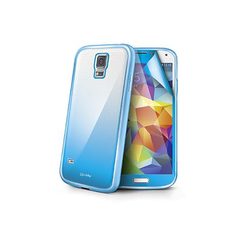 CELLY Cover Sunglasses per Galaxy S5 + Screen Protector - Light Blue