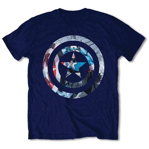 ROCK OFF Marvel Comics - Captain America Knock-out Blue (Unisex Tg. L)