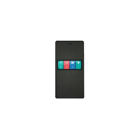 WIKO Custodia Smart Folio per Fever Colore Nero