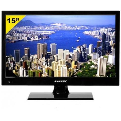 """MAJESTIC TV LED HD Ready 16"""" TVD215MP08 Alimentazione 12V"""