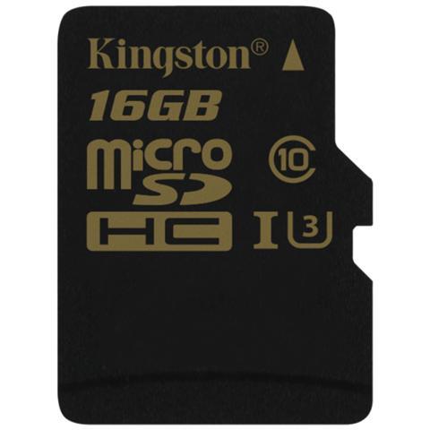 KINGSTON MicroSDHC da 16GB UHS-I Classe 3