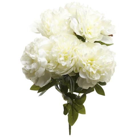 Heaven Sends Mazzolino Di Peonia Bianca (50 X 40 X 30cm) (bianco)