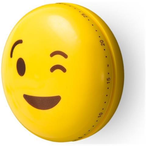 Emoji Timer Da Cucina Magnetico. Molto Decorativo, In Plastica. Con Ingranaggio, Non Impiega Batterie.