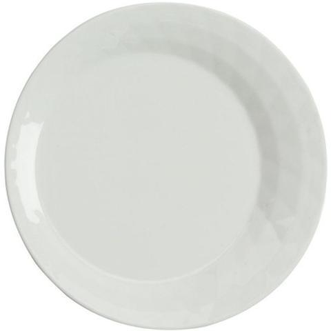 TOGNANA Piatto Frutta Colore Bianco Diametro 21 cm - Linea Diamante