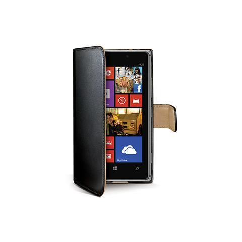 CELLY black pu wallet case lumia 925