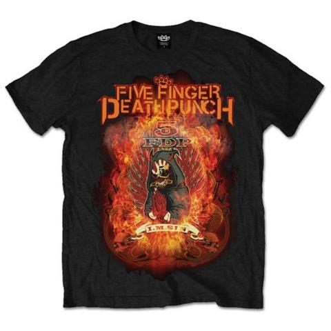 ROCK OFF Five Finger Death Punch - Burn In Sin (T-Shirt Unisex Tg. L)