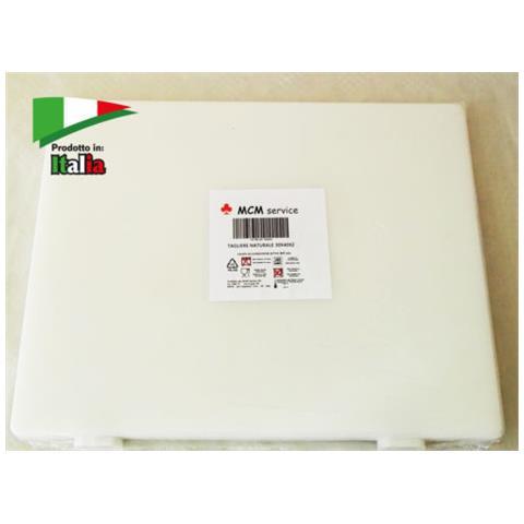 Taglieri In Polietilene Bianco 40x30x2 Con Fermi