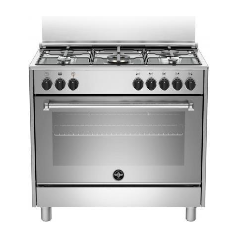 Cucina Elettrica AMN965EXV 5 Fuochi a Gas Forno Elettrico Classe A Dimensioni 90 x 60 cm C...