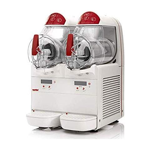 Macchina Per Granite Sorbetti Creme Fredde Ugolini Ng6/2 Elettronic - 2 Contenitori Da 6 Litri - Dispenser Made In Italy
