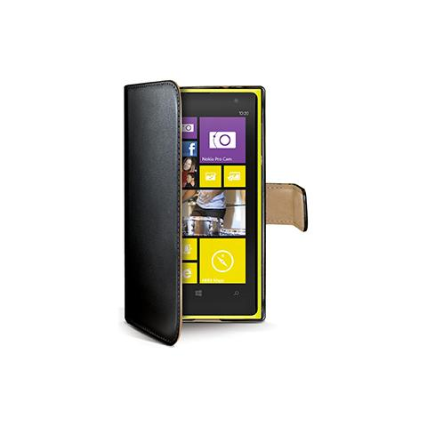 CELLY black pu wallet case lumia 1020