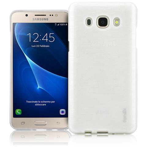 FONEX Perla Cover in Morbido TPU con Effetto Madreperla per Galaxy J7 (6) Colore Bianco
