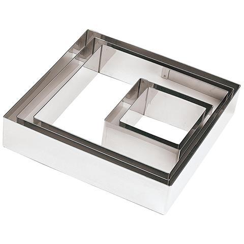FIMEL Quadrato Inox Cm 22x22 H 4,5 Per Torte