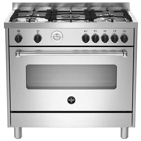 Cucina Elettrica AMN965EXT 5 Fuochi a Gas Forno Elettrico Classe A Dimensioni 90 x 60 cm C...