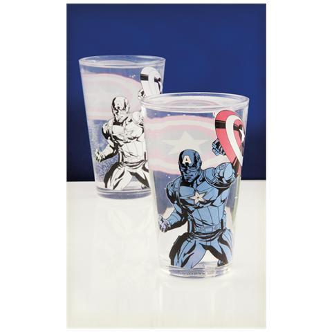 PALADONE Marvel - Captain America Colour Change Glass (Bicchiere Termosensibile)