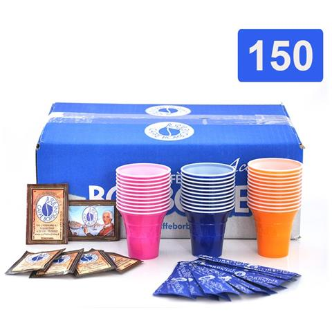 KIT150BICPALZUCBORBONE Borbone Kit Accessori 150pz Bicchierini + Bustine Zucchero + Palette