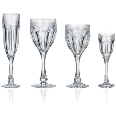 Servizio Di Bicchieri Dal Design Classico A Coste - Vienna