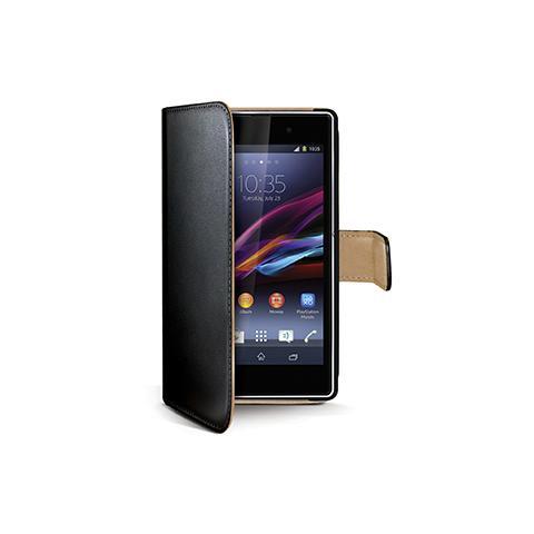 CELLY black pu wallet case xperia z1
