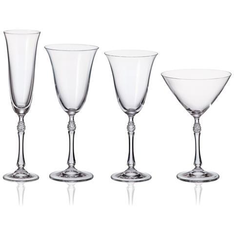 Servizio Bicchieri Moderno Con Taglio Diamante - Ginevra