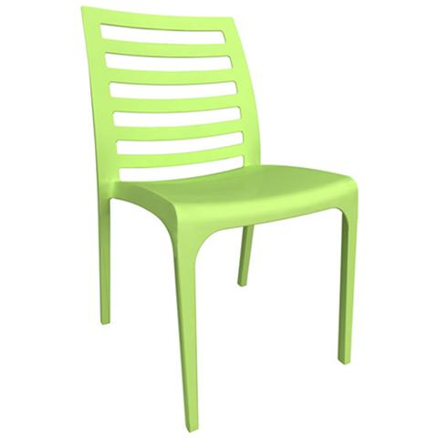 Sedie in fibra di vetro colore verde cm 46x54xH 80