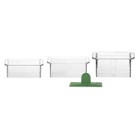 Conf. 3 copapasta trasparenti rettangolare presto
