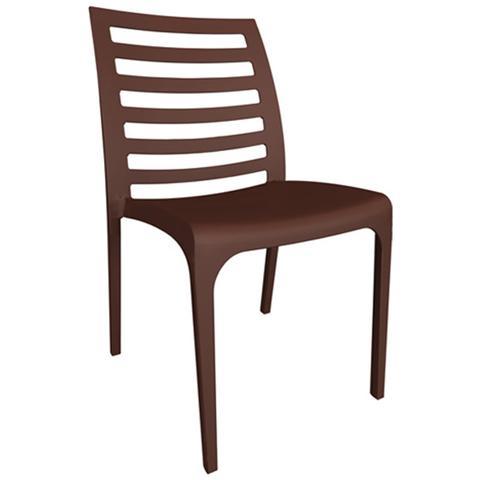 Sedie in fibra di vetro colore marrone cm46x54xH 80