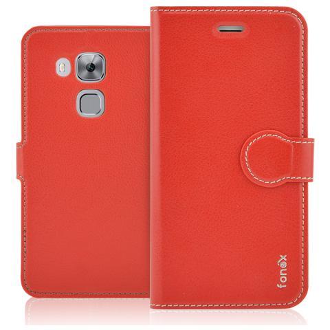 FONEX Identity Book Custodia a Libro per Huawei Nova Plus Colore Rosso