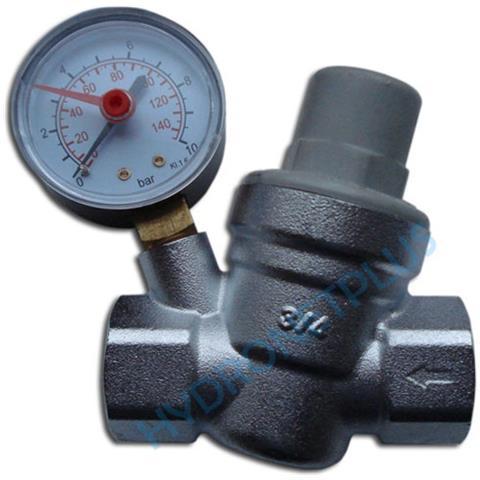 La Pressione Dell'acqua Valvola Di Riduzione 34 femmina Per 22 Millimetri Tubo Con Manomet...