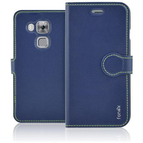 FONEX Identity Book Custodia a Libro per Huawei Nova Plus Colore Blu