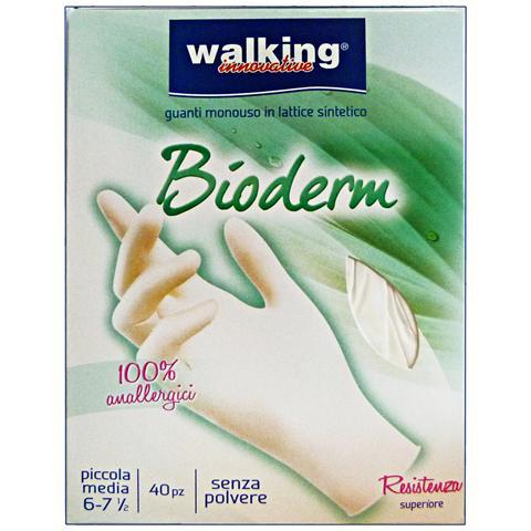 Walking Guanti X 40 Bioderm S-m Lattice Walking Giardinaggio