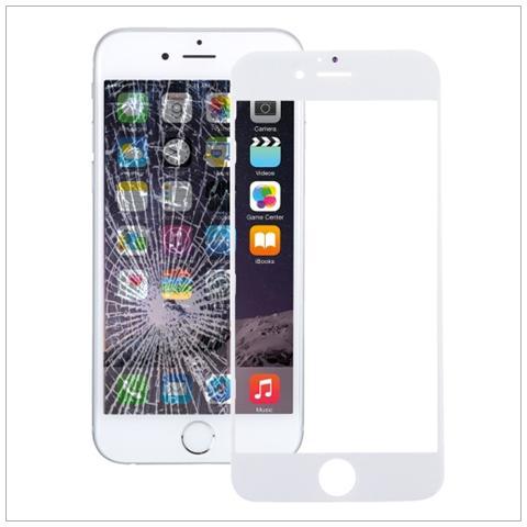BOMA Schermo Touch Vetro Frontale Ricambio Apple Iphone 7 Bianco Anteriore