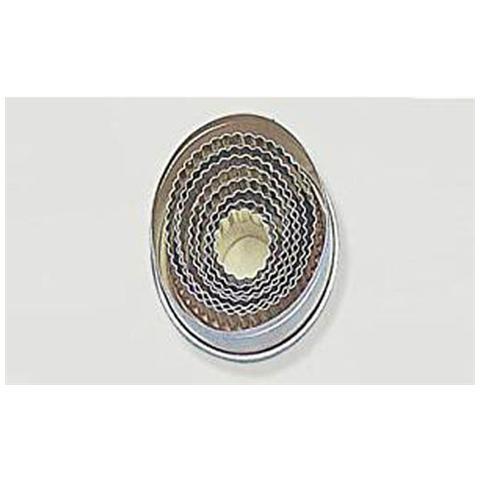 Set 6 tagliapasta ovale festonato acciaio inox