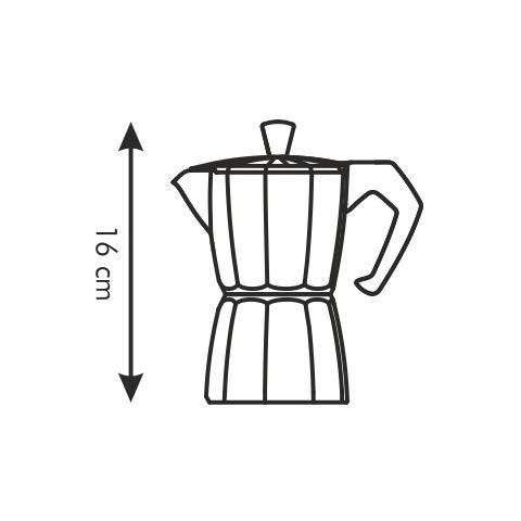 Caffettiera 3 tazze paloma