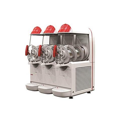 Macchina Per Granite Sorbetti Creme Fredde Ugolini Ng10/3 Easy - 3 Contenitori Da 10 Litri - Dispenser Made In Italy