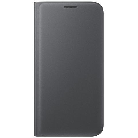SAMSUNG Flip Wallet Cover Custodia Originale per Galaxy S7 - Nero