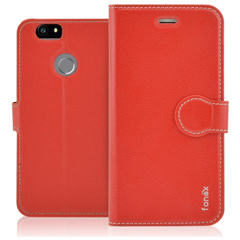 FONEX Identity Book Custodia a Libro per Huawei Nova Colore Rosso