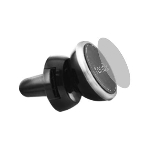 FONEX Supporto da Auto Universale per Alette Aerazione Air Magnetic - Nero