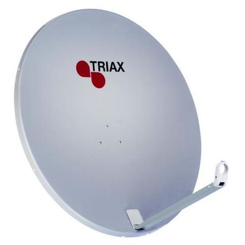 Triax TDA 88 RAL 7035 Euroline, 38,8 dBi, 10.7 - 12.75 GHz, 88 cm, Grigio, Alluminio