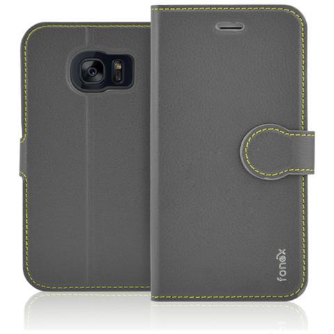 FONEX Identity Book Custodia a Libro per Galaxy S7 Edge Colore Grigio