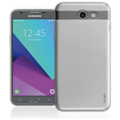 FONEX Inv Cover Ultra Sottile 0,2 mm in Morbido TPU per Samsung Galaxy J7 (7) Colore Trasparente