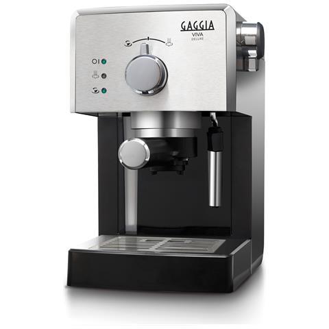 RI8435/11 Viva Macchina da Caffè Espresso Manuale Potenza 1025 Watt Capacità 1.25 Litri Colore Argento e Nero