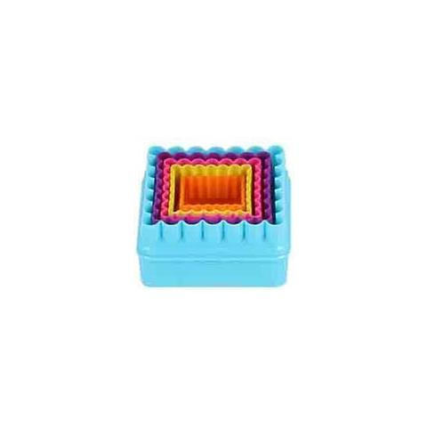 5 Tagliabiscotti Quadrati Colorati Plastica