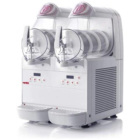 Minigel Plus 2 - Dispenser Refrigerato Gelato Soft Granite Sorbetti Bevande 2 X 6 Litri