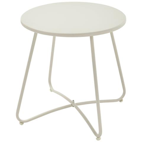 CARREFOUR Tavolino Acapulco da Esterno Colore Bianco