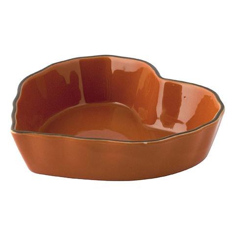 Pirofila Stoneware Cuore Arancio19 Strumenti Da Cucina