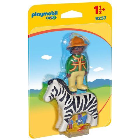 PLAYMOBIL Kit con Uomo e Zebra