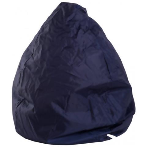 Mobili Rebecca Puff A Pera Poltrona Sacco Blu Scuro Confort Sedia Imbottita