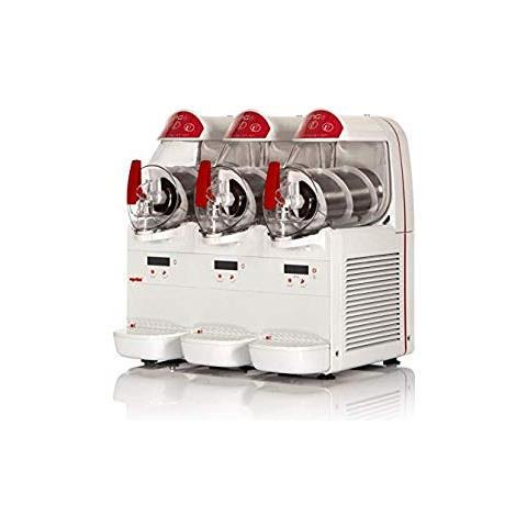 Macchina Per Granite Sorbetti Creme Fredde Ugolini Ng6/3 Easy - 3 Contenitori Da 6 Litri - Dispenser Made In Italy
