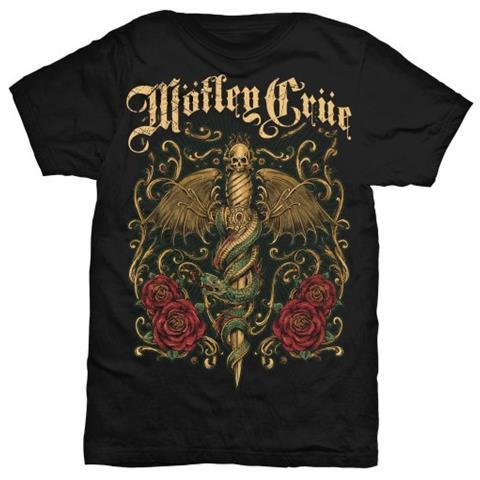 ROCK OFF Motley Crue - Exquisite Dagger (T-Shirt Unisex Tg. L)