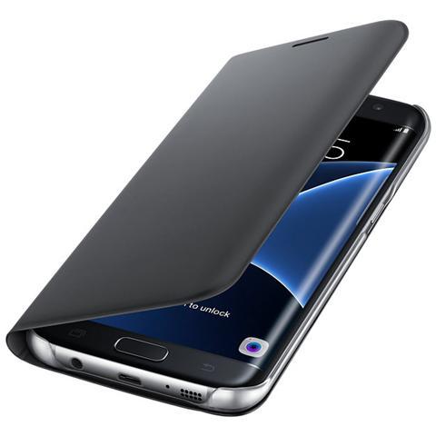 SAMSUNG Flip Wallet Cover per Galaxy S7 Edge - Nero